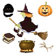 Halloween icon , vector set