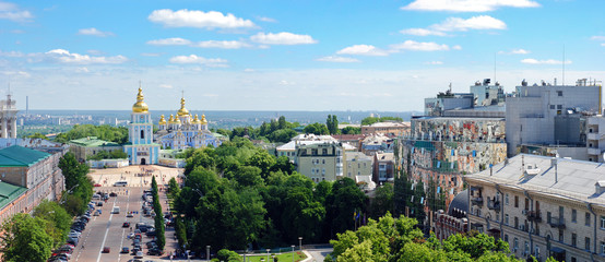 Panoramik view on St. Michael's Golden Domed Monastery