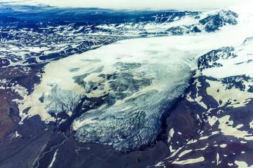 Glacier snout of Vatnajökull, Highlands, Iceland
