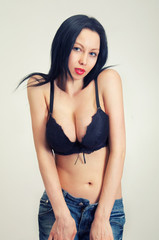 girl with large breasts