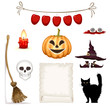 halloween clipart , vector set