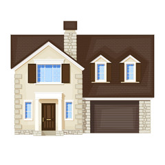 house , vector without gradient
