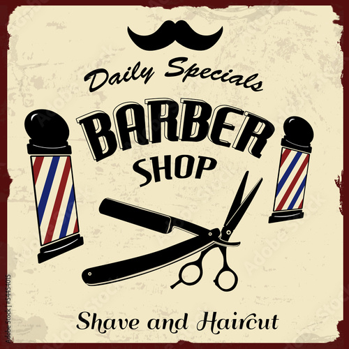 Vintage Styled Barber Shop