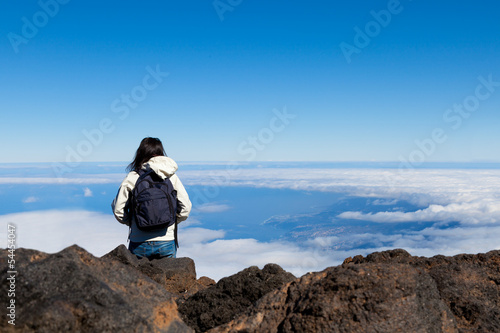Young Woman in High Mountain Range