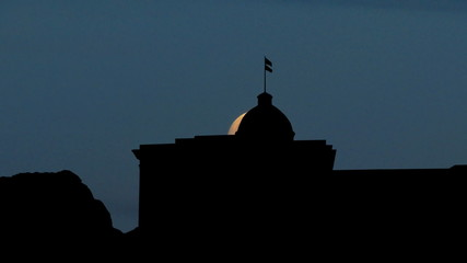 Alabama First Confederate Capitol moonrise