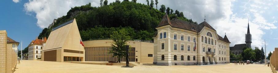 the house of parliament in Vaduz in Liechtenstein