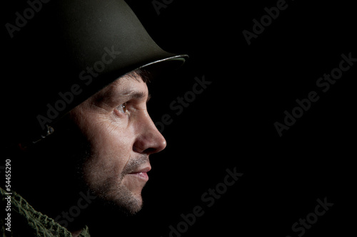 Shell Shocked WW2 American Soldier
