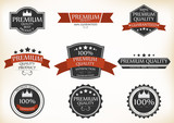 Fototapety Premium Quality and Guarantee Labels with retro vintage style
