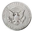 Silver Kennedy Half Dollar - Tails Frontal