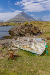 Old boat at the East-Fjords, Iceland
