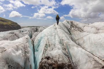 Glacier walk at Svínafellsjökull, Vatnajökull, Iceland