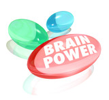 Brain Power Capsules Alternative Supplements Vitamins Stimulate poster