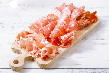 Platter of serrano jamon Cured Meat