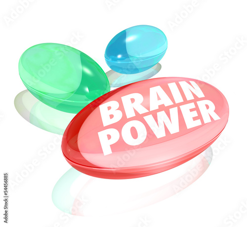 Brain Power Capsules Alternative Supplements Vitamins Stimulate
