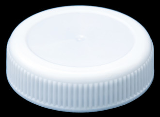 Isolated White Plastic Bottle Cap