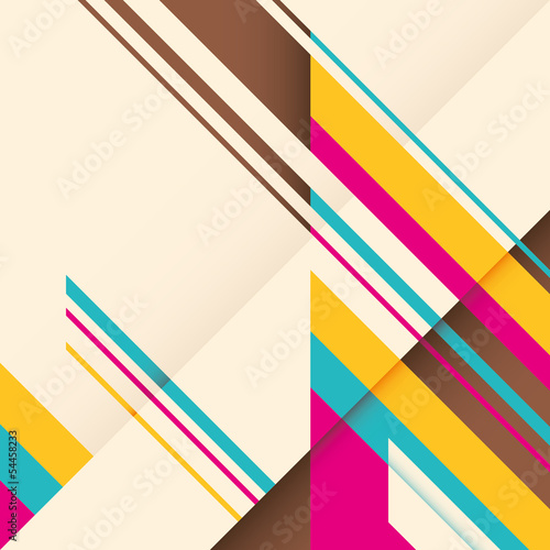 Background with colorful abstract elements.