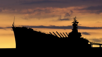 Alabama USS Alabama dusk