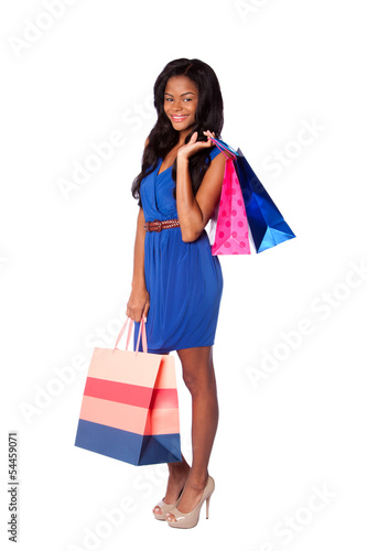Happy fashion shopping bags