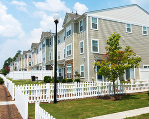 Suburban three story Town Homes