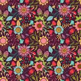 Fototapeta Seamless floral pattern