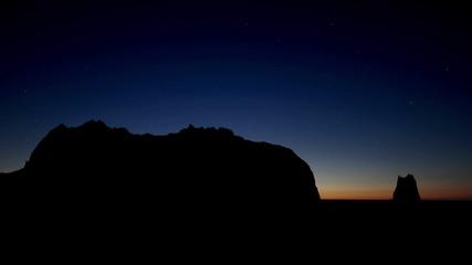 Alaska Kayak Island starry sunrise
