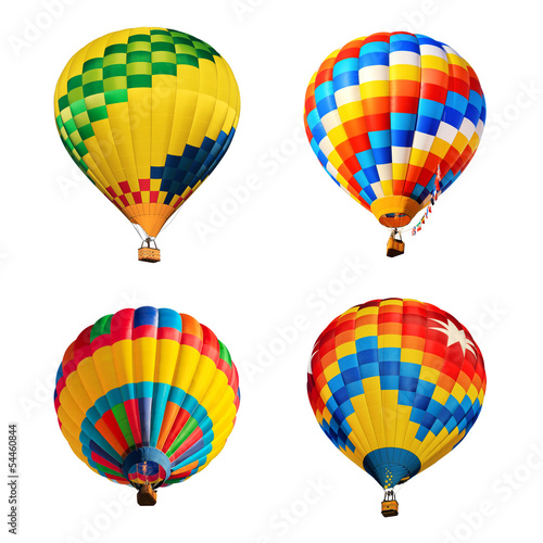 hot ait balloons isolated