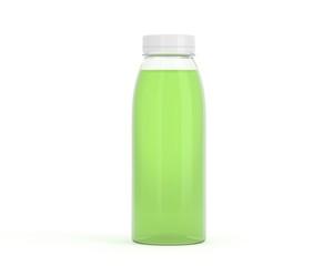 Flasche aus Plastik grün