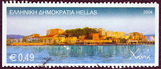 Chania city harbor, Crete island (Greece 2004)