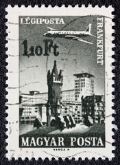 Frankfurt and airplane (Hungary 1966)