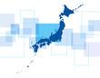 日本地図とネットワーク