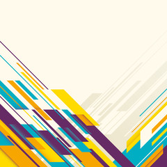 Colorful layout with angular abstraction.