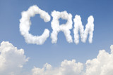 CRM concept text in clouds