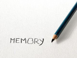 Word Memory on paper.