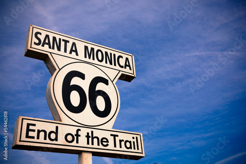 Historic Route 66 Santa Monica sign