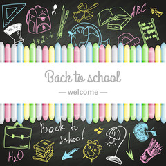 school boards and colored chalks