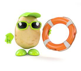 Potato throws a life ring
