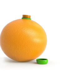 Naranja con tapón