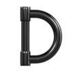 Black Plastic Alphabet D
