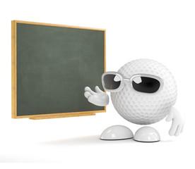 Golfball at the blackboard