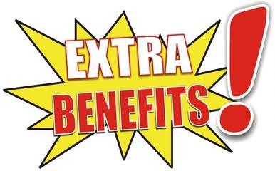 étiquette extra benefits