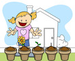 Flower Plant - Gardening - Kids - Vector Illustration