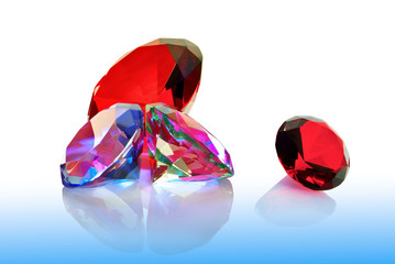"""The precious stones emeralds,rubies and diamonds"""