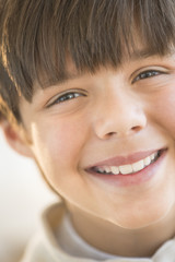 Close-Up Of Little Boy Smiling