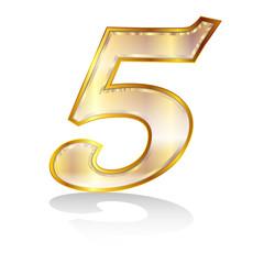 5 数字 エンブレム