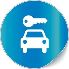 étiquette location voiture