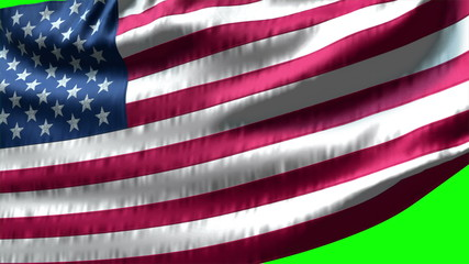 Flag USA on green