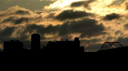 Arkansas Little Rock sunset clouds