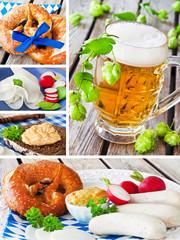 Weisswurst und Bier - Oktoberfest