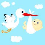 stork and boy