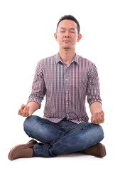 Asian meditation man